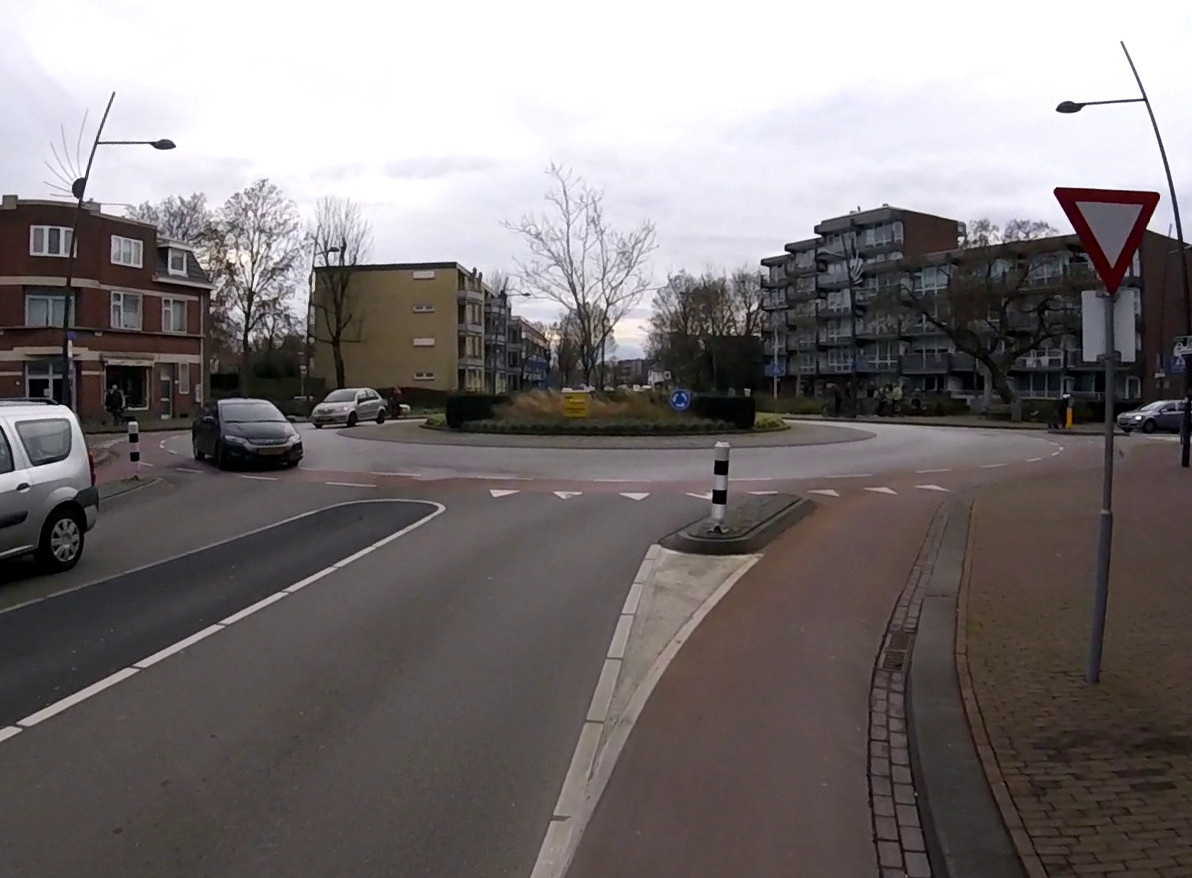 Bild: Für Radfahrer sicherer Kreisverkehr in Landgraaf