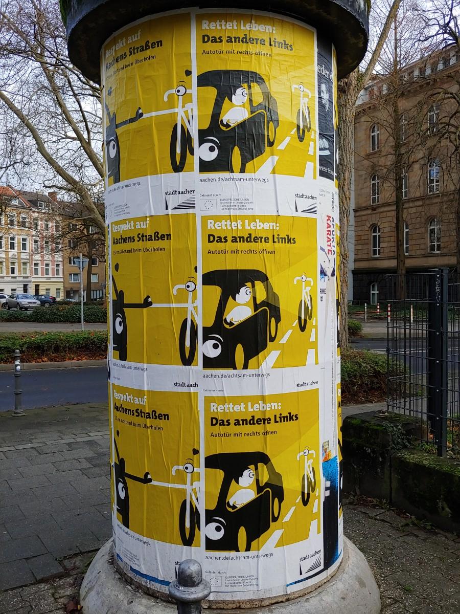 Bild: Plakate zur Fahrradaktion im Univiertel