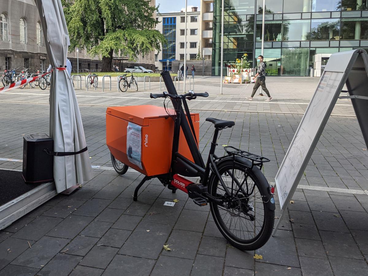 Bild: Neues Lastenrad des ADFC Aachen